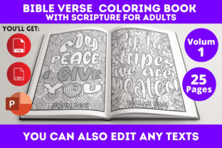 Print on Demand: Bible Verse Coloring Book Graphic Coloring Pages & Books Adults By Infinite Desings 3