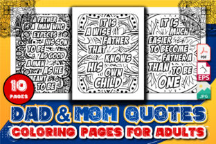 Dad and Mom Quotes Coloring Pages Vol -2 Graphic Coloring Pages & Books Adults By GraphicsArt