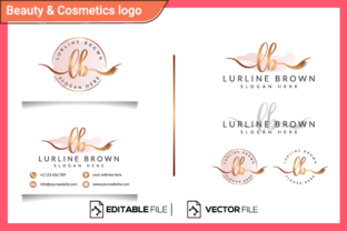 Feminine Logo Initial Lb for Business Graphic Logos By Opulent Graphic