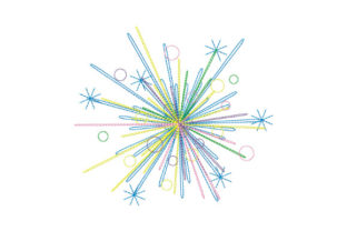 Print on Demand: Festive Fireworks Holidays & Celebrations Embroidery Design By EmbArt