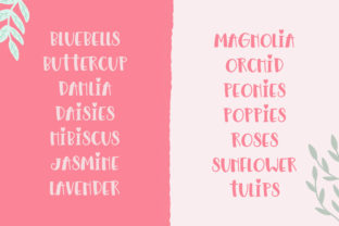 Print on Demand: Floralista Display Font By Salt and Pepper Fonts 5