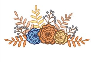 Flowers Bouquets & Bunches Embroidery Design By NinoEmbroidery