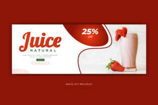 Print on Demand: Juice Drink Food Facebook Cover Banner Graphic Web Templates By grgroup03