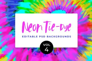 Neon Tie-Dye Vol. 4 Backgrounds Graphic Patterns By TheGypsyGoddess 1