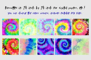 Neon Tie-Dye Vol. 4 Backgrounds Graphic Patterns By TheGypsyGoddess 2