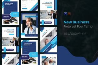 New Business | Pinterest Post Template Graphic UX and UI Kits By Vunira.Template