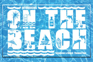 Print on Demand: On the Beach Decorative Font By KtwoP 1