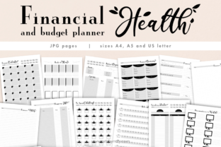 Print on Demand: Printable Financial and Budget Planner Graphic KDP Interiors By artsbynaty