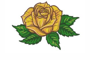 Rose Single Flowers & Plants Embroidery Design By NinoEmbroidery