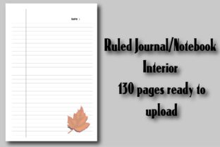 Ruled Journal/Notebook Interior Ready Graphic KDP Interiors By Ador Hasan