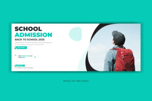 Print on Demand: School Admission Facebook Cover Banner Graphic Web Templates By grgroup03