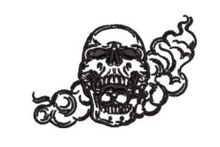 Smoking Skull Pirates Embroidery Design By Embroidery Designs