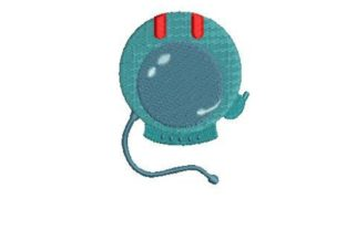 Space Helmet Robots & Space Embroidery Design By Embroidery Designs