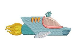 Spaceship Robots & Space Embroidery Design By Embroidery Designs