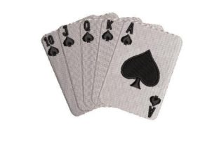 Straight Flush Cards Games & Leisure Embroidery Design By Embroidery Designs