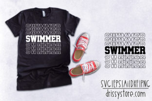 Swimmer Graphic Crafts By DrissyStore