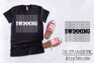Swimming Graphic Crafts By DrissyStore