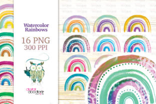 Print on Demand: Watercolor Rainbow Sublimation Bundle Graphic Illustrations By Digital Doodlers