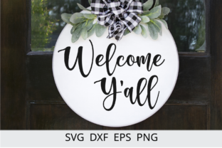Welcome Y'all Farmhuse Sign Svg Design Graphic Crafts By Chamsae Studio