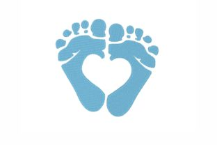 Baby Feet Babies & Kids Embroidery Design By SonyaEmbroideryStore