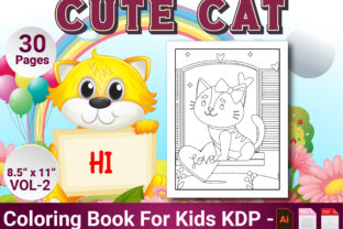 Print on Demand: Cat Coloring Pages for Kids Vol-2 Graphic Coloring Pages & Books Kids By Simran Store