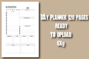 Day Planner 120 Pages 6x9 Interior Graphic KDP Interiors By Ador Hasan