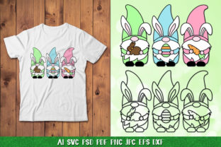 Easter Gnome SVG,Easter Bunny Gnome Graphic Crafts By goodfox86