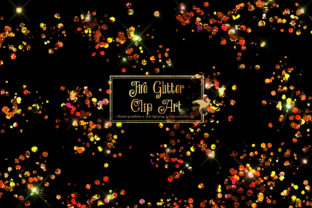 Print on Demand: Fire Glitter Clipart Graphic Illustrations By Digital Curio