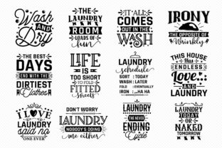 Laundry Room Sayings Bundle | 30 Designs Graphic Crafts By CraftlabSVG 2