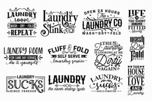 Laundry Room Sayings Bundle | 30 Designs Graphic Crafts By CraftlabSVG 3