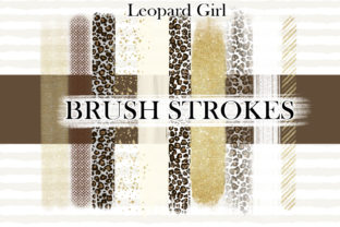 Print on Demand: Leopard BRUSH STROKES Print Cute Png Graphic Illustrations By LerVik