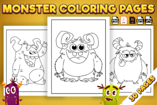 Print on Demand: Monster Coloring Pages - Kdp Interior Graphic Coloring Pages & Books Kids By Kristy Coloring 1