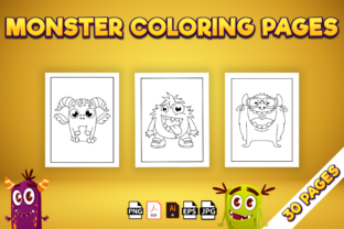 Print on Demand: Monster Coloring Pages - Kdp Interior Graphic Coloring Pages & Books Kids By Kristy Coloring 2