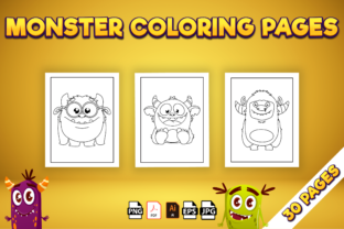 Print on Demand: Monster Coloring Pages - Kdp Interior Graphic Coloring Pages & Books Kids By Kristy Coloring 3