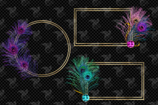 Print on Demand: Peacock Frames Clipart Graphic Illustrations By Digital Curio 2