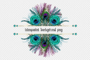 Print on Demand: Peacock Frames Clipart Graphic Illustrations By Digital Curio 3