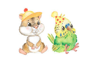 Pets Watercolor Clipart Cute Baby Animal Graphic Add-ons By EvArtPrint 5
