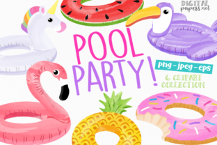 Print on Demand: Pool Party Float - VOL 1 Graphic Illustrations By DigitalPapers