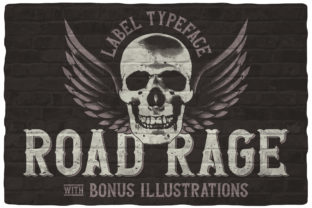 Print on Demand: Road Rage Blackletter Font By Vozzy Vintage Fonts And Graphics