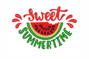 Sweet Summertime Summer Embroidery Design By SonyaEmbroideryStore