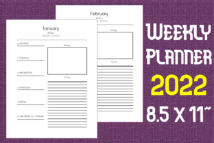 Print on Demand: Weekly Planner Graphic KDP Interiors By Mary's Designs