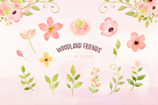 Woodland Animals Watercolor Clipart - 3