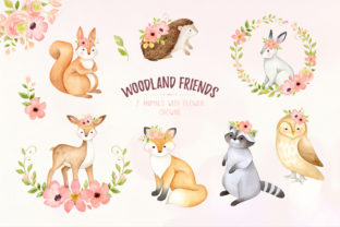 Woodland Animals Watercolor Clipart - 4