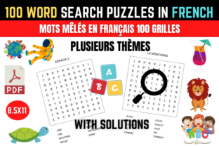 Print on Demand: Word Search Puzzle Book in French (100) Graphic KDP Interiors By KDPBusiness