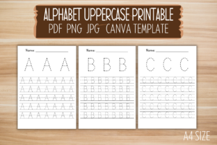 Print on Demand: Alphabet Uppercase Handwriting Canva Graphic PreK By craftedwithbliss