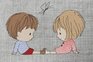 Print on Demand: Baby Love Boys & Girls Embroidery Design By ArtEMByNatali 2