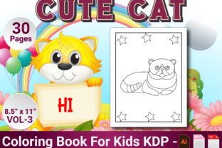 Print on Demand: Cat Coloring Pages for Kids Vol-3 Graphic Coloring Pages & Books Kids By Simran Store