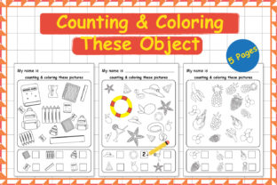 Counting & Coloring These Object Graphic Teaching Materials By Kids Zone