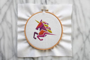 Print on Demand: Cute Full Color Unicorn Horses Embroidery Design By Wilansa