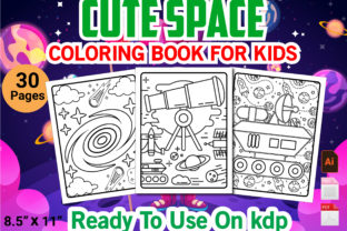 Print on Demand: Cute Space Coloring Book for Kid's Graphic KDP Interiors By Simran Store